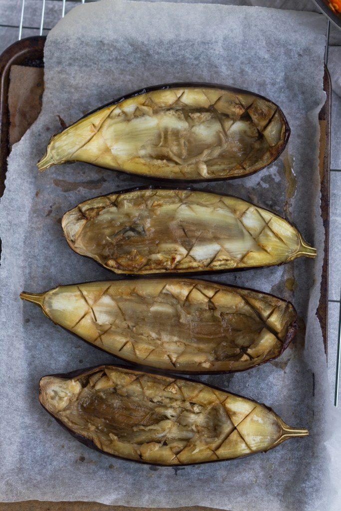 hollow baked eggplant