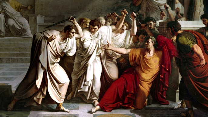The assassination of Julius Caesar in Rome