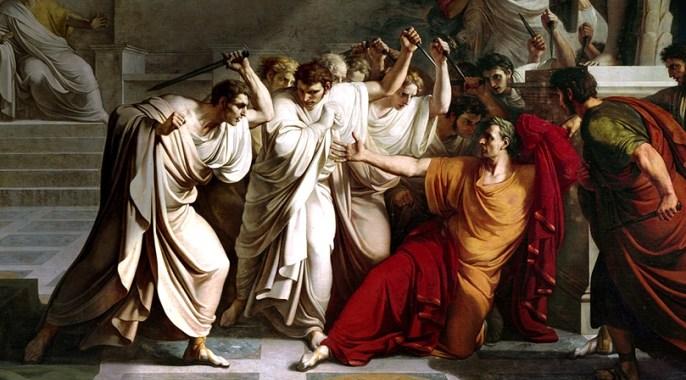 The assassination of Julius Caesar in Rome