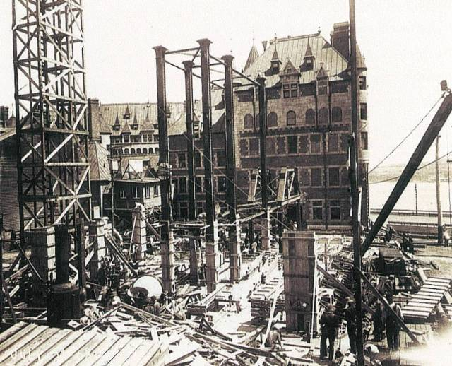 Construction on the now iconic tower of the Château Frontenac was completed in 1924. Courtesy Fairmont Château Frontenac