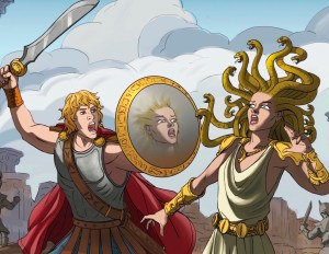 Medusa and Perseus in Gibraltar