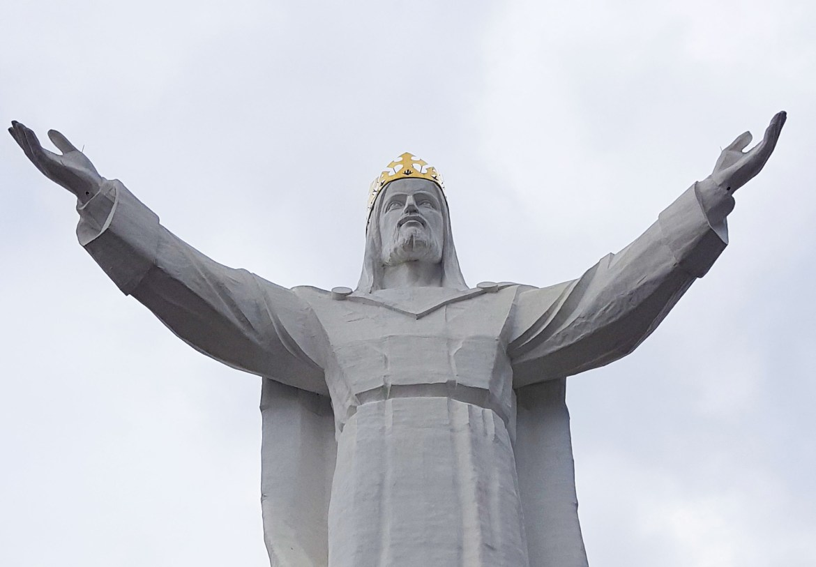 The world's largest statue of Jesus Christ in Świebodzin