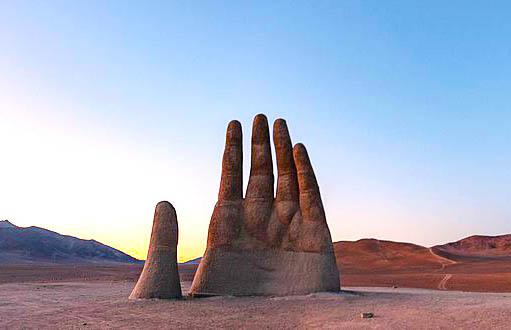 Mano del Desierto in Antofagasta