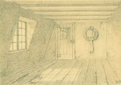 Room where Beethoven was born (drawing/1889) Image: Wikipedia