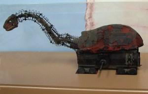 King Kong brontosaur – The original dinosaur model is being exhibit in Blanding