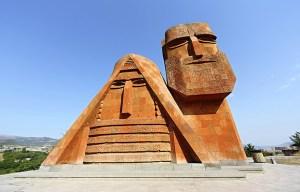 "Tatik Papik – The ""We Are Our Mountains"" monument in Khankendi"