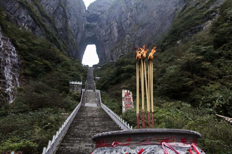 The Heaven's Gate Mountain in Zhangjiajie