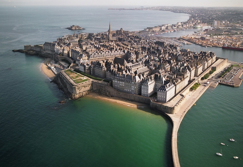 The walled city in Saint Malo