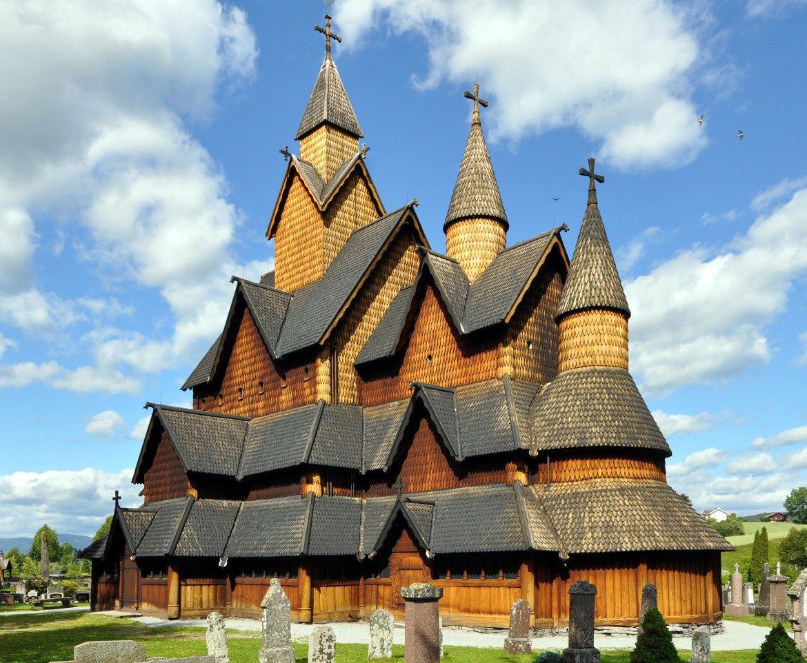 The Heddal Stave Church in Notodden