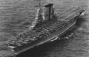 USS Saratoga – The aircraft carrier rests in Bikini Atoll