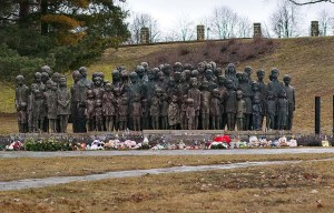 Památník Lidice – The memorial to the children victims of the war in Lidice