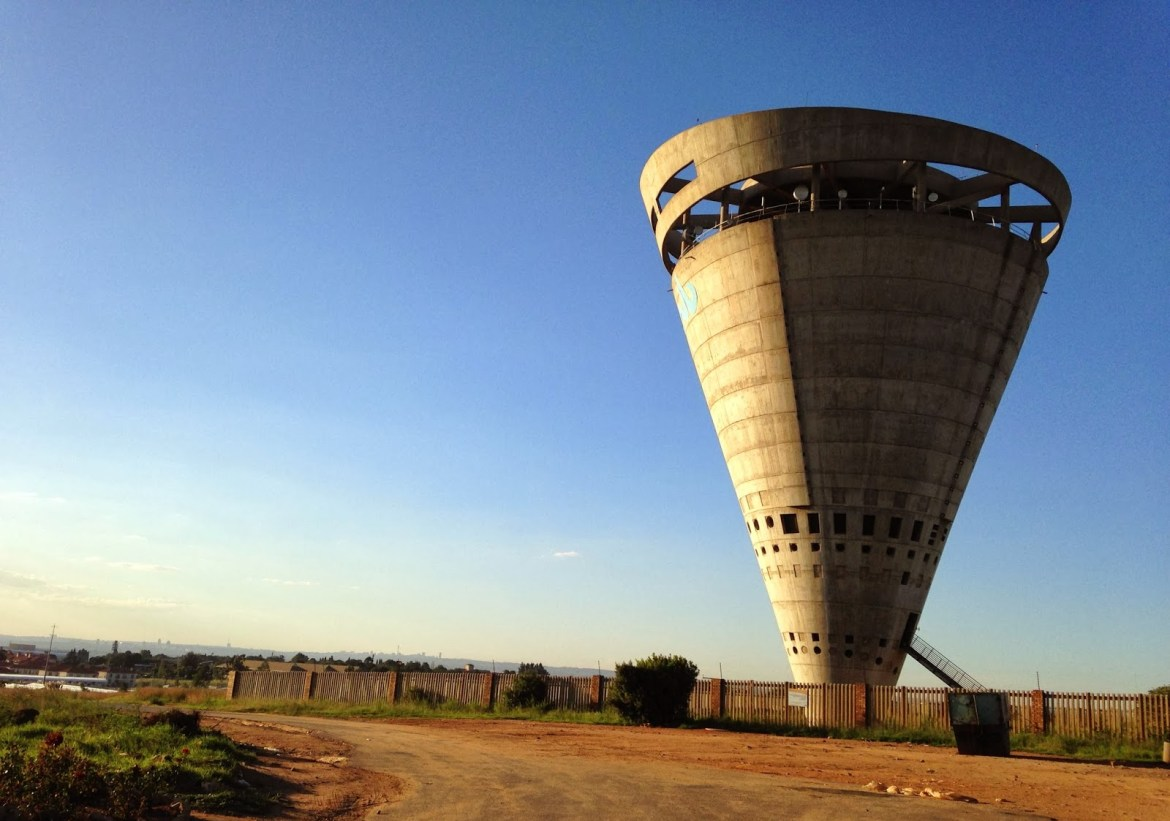 The Grand Central Water Tower in Midrand