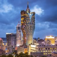 Grand Lisboa - The hotel and cityscape in Macau