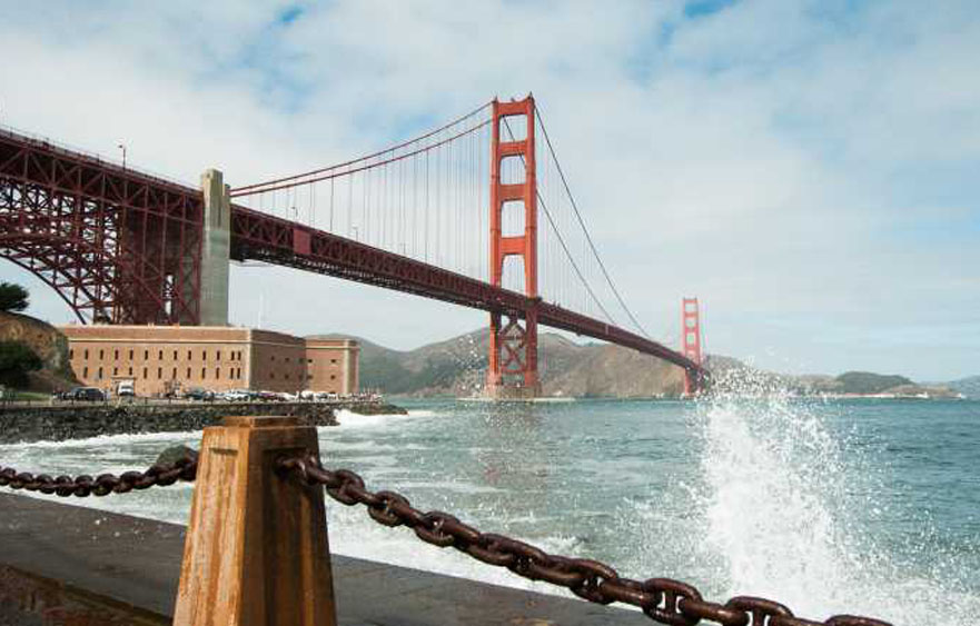 Golden Gate Bridge – One of the most internationally recognized symbols in San Francisco