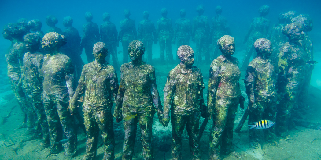 The Molinere Underwater Sculpture Park in The Lime