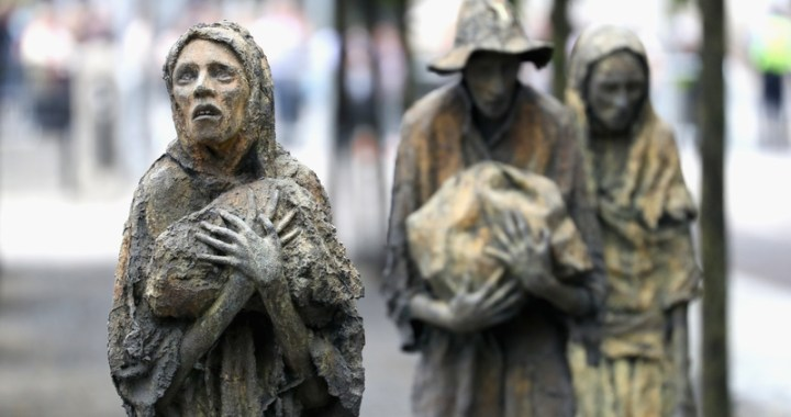 Famine Memorial – The men and women of despair and determination in Dublin