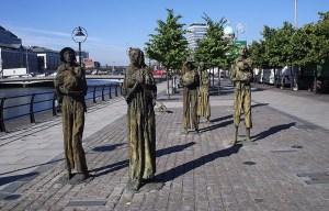 Famine Memorial – The men and women of despair and determination in Dublin