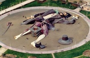 Gulliver park – The giant playground of the fictional protagonist in Valencia