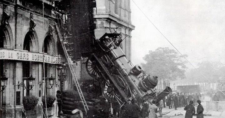 Montparnasse derailment – The Site of the famous train accident in Paris