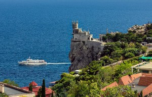 Swallow's Nest – The small castle on the cliff in Gaspra