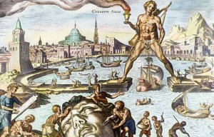 Colossus of Rhodes – The statue of the Greek god Helios in Rhodes