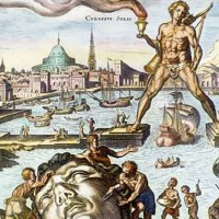 Colossus of Rhodes - The statue of the Greek god Helios in Rhodes