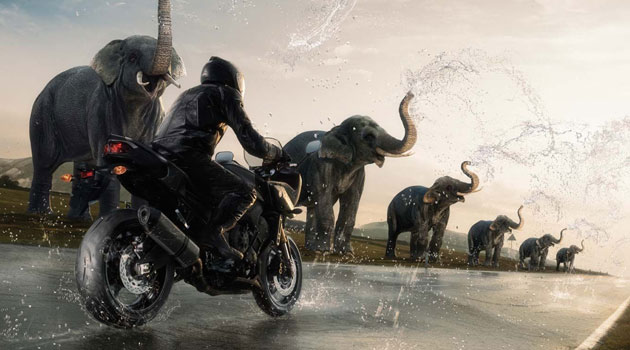 Que la lluvia no te baje de la moto