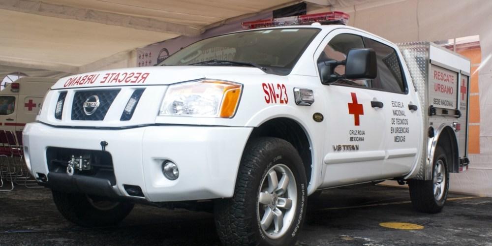 Nissan concede a la Cruz Roja Mexicana vehículo de emergencia modelo Titan