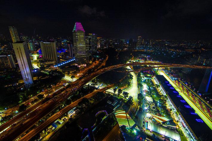 El Gran Premio de Singapur primera y única carrera nocturna de la Fórmula 1