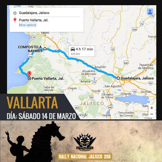 Mapa Gdl-Vallarta