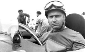 Juan Manuel Fangio In A Ferrari Around 1951