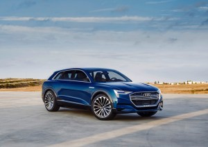 The Audi e-tron quattro concept study that was presented at the Frankfurt Motor Show in 2015 provides a clear indication of the final production version.