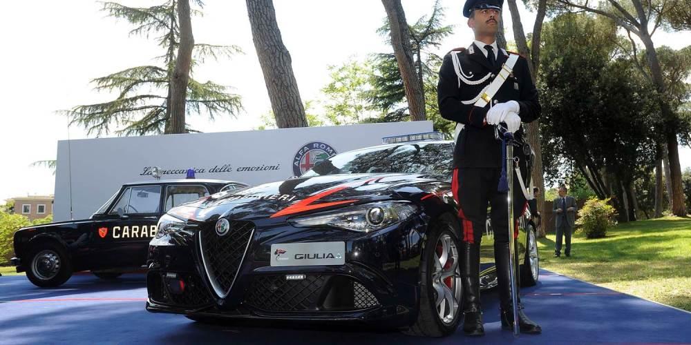 Alfa Romeo Giulia, vehículo oficial del Carabinieri italiano