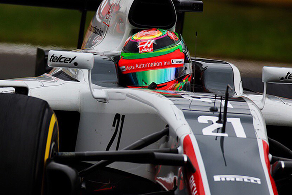 Esteban lidia con el frío en las primeras prácticas del GP de México