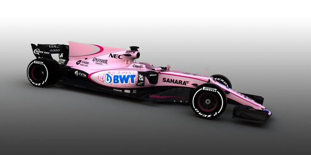 Sergio Pérez tendrá una temporada color de rosa