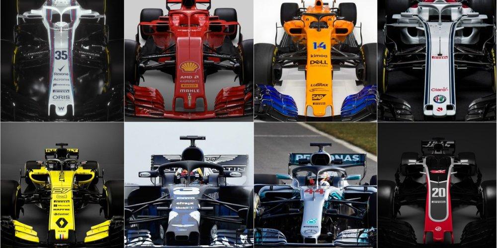 Los colores de la nueva temporada de Fórmula 1