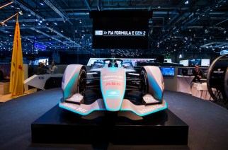 2017/2018 FIA Formula E Championship. Geneva Motor Show  Tuesday 6 March 2018. The FIA Formula-E Gen2 car is unveiled. Photo: Sam Bloxham/LAT/Formula E ref: Digital Image _W6I3882