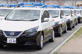En Japón ya usan el Nissan LEAF como patrulla de tránsito