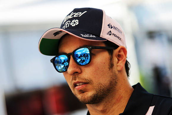 Sergio Perez (MEX) Sahara Force India F1. Australian Grand Prix, Thursday 22nd March 2018. Albert Park, Melbourne, Australia.