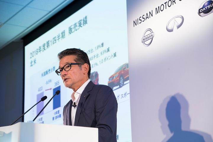 Nissan reporta resultados del primer trimestre de su año fiscal 2018 (abril – junio)