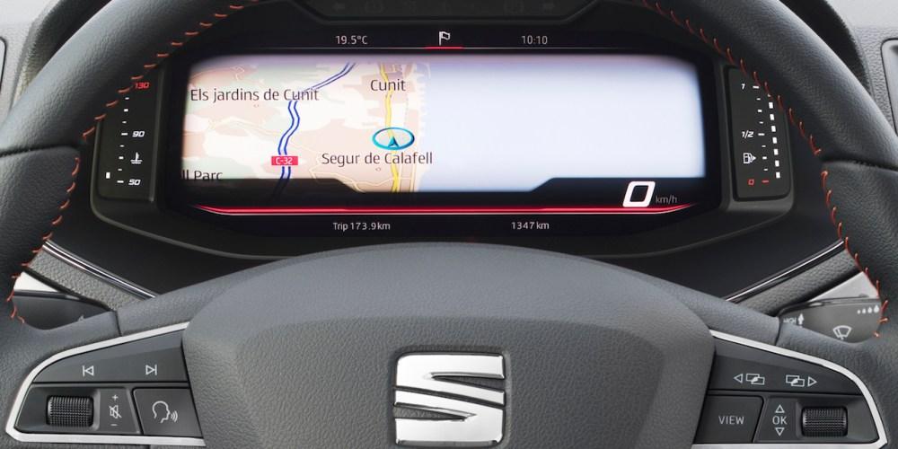 SEAT incorpora cuadro de instrumentos digital en Arona e Ibiza