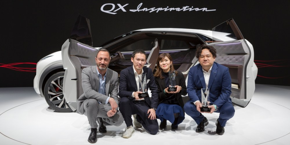 "The INFINITI QX Inspiration Concept today was awarded ""Best Concept Vehicle"" and ""Best Interior"" for the second year in a row at the 2019 North American International Auto Show by the prominent collection of automotive designers known as EyesOn Design. The concept also received the ""Innovative Use of Color, Graphics or Materials"" award."