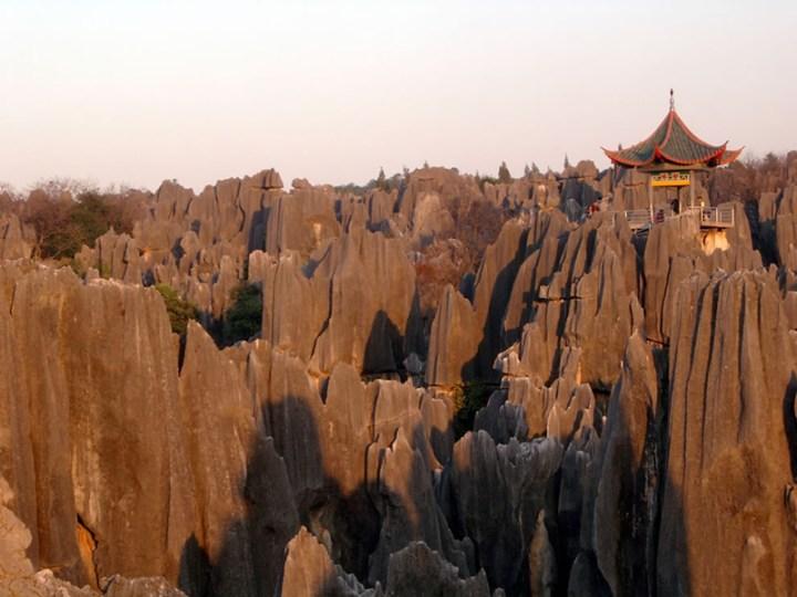 Sunshine-and-Shilin-Stone-Forest-China