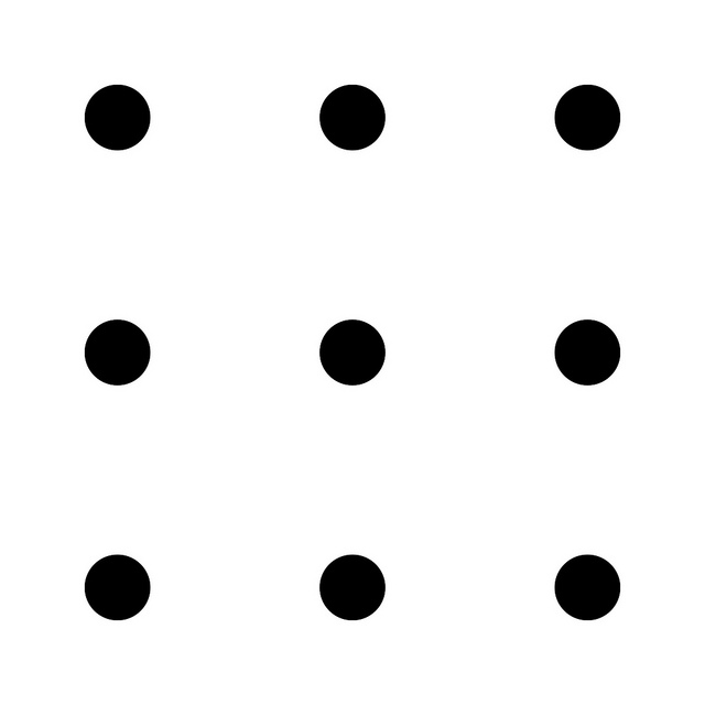 how to connect 9 dots with 4 straight lines