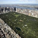 Aerial view of Manhattan looking south o