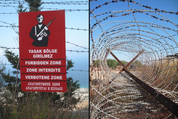 Gun-in-hand-warning-sign-for-forbidden-zone-and-barbed-wire-from-accessible-area-of-Famagusta