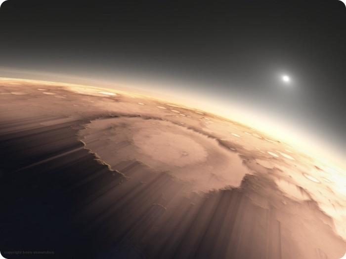 Sunrise On Mars Pictures Memolition - Sunrise looks like mars