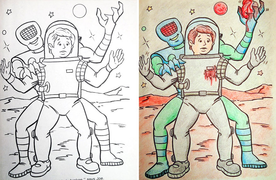 What happens when you give a colouring book to an adult? | Memolition