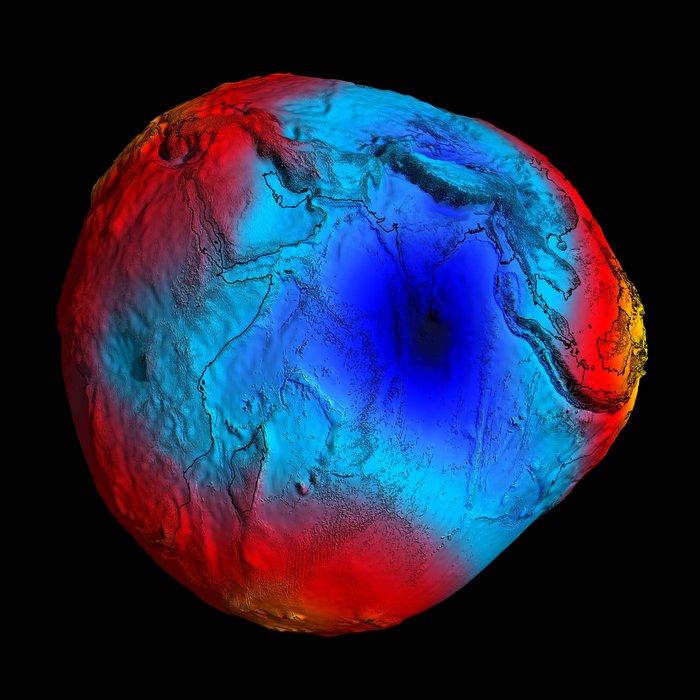 2011 GOCE geoid Copyright ESA/HPF/DLR