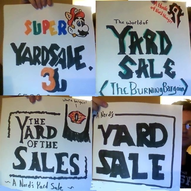 clever yard sale signs to make your junk worth looking at